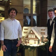 Ein Lebkuchenhaus als besondere Spendenbox