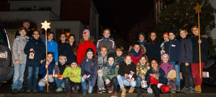Sammeln mit englischen Weihnachtsliedern: Schüler der Waldorfschule. Foto: von Ditfurth