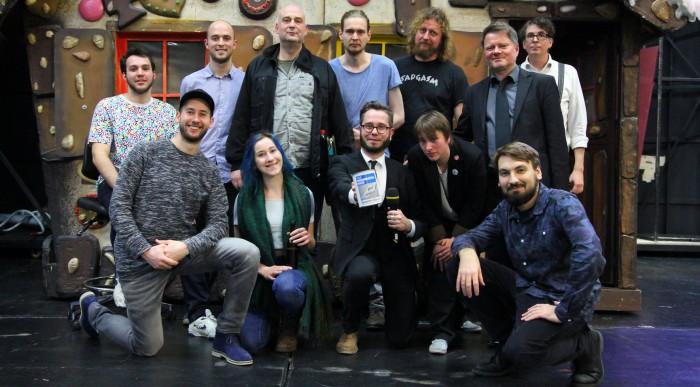 Die Slammer sammelten mehr als 1600 Euro Spenden ein. Foto: Matthias Stehr