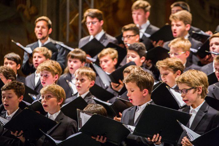 Der Knabenchor Hannover singt am Montag für die Spendensammlung. Foto: Ditfurth