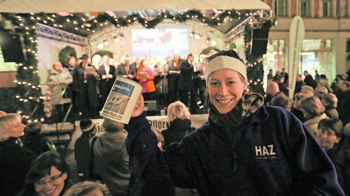 Die blauen Weihnachtsengel sammeln wieder für die HAZ-Weihnachtshilfe. Foto: Thomas